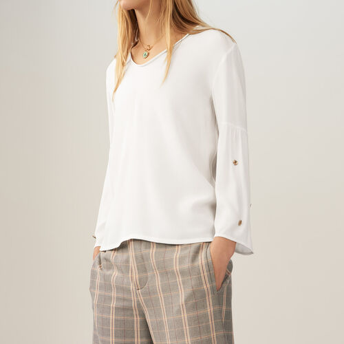 Top with embroidered bees : Tops color Ecru