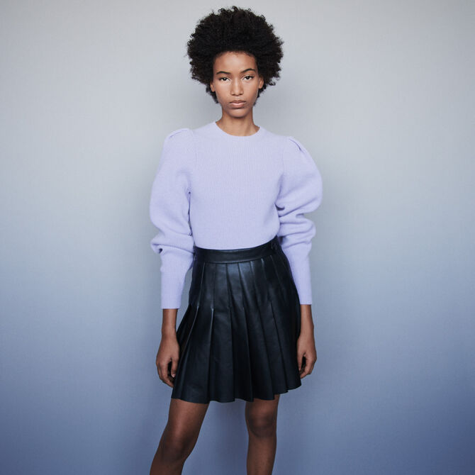 Wool sweater with balloon sleeves -  - MAJE