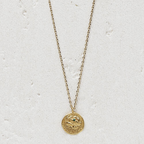 """Necklace with medallion  """"Mon chou"""" : Jewelry color GOLD"""