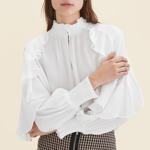 Floaty frilled blouse  - Shirts - MAJE