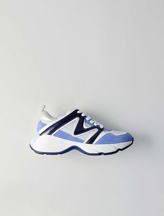W22 mixed material sneakers -  - MAJE