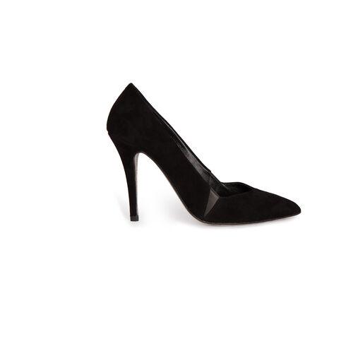 Suede court shoes : Accessories color Black 210
