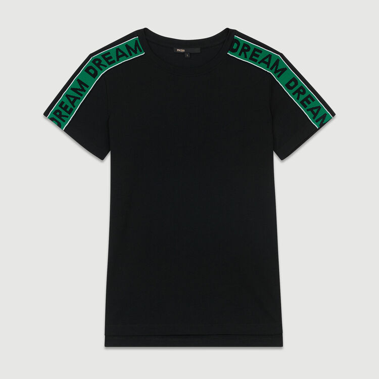 T-shirt with ribbons : T-Shirts color Black 210