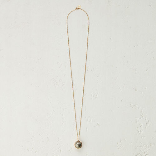 Necklace with natural stone : New collection color Off White
