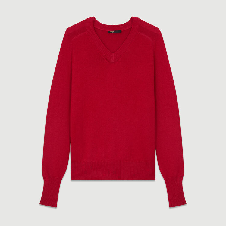 Oversized wool-cashmere sweater : Knitwear color ECRU