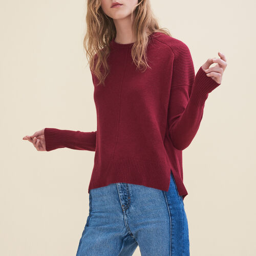Cashmere jumper : Sweaters & Cardigans color Burgundy
