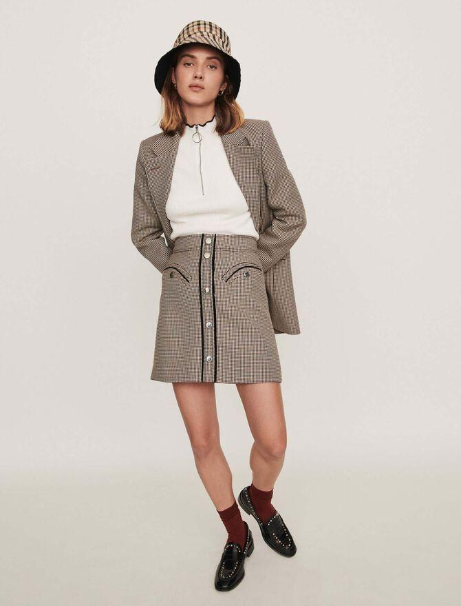 Plaid pencil skirt - Pre_Soldes_Jupes_Shorts - MAJE