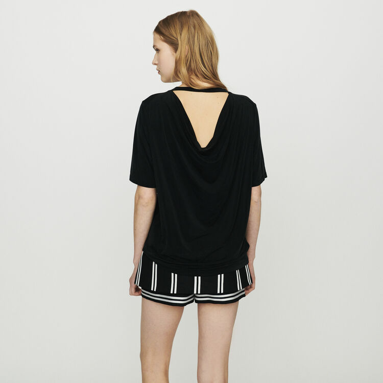 T-shirt in cupro : T-Shirts color Black