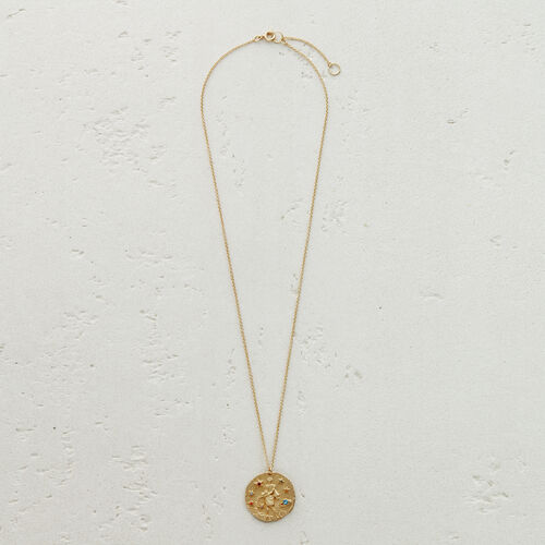 Aquarian zodiac sign necklace : See all color GOLD