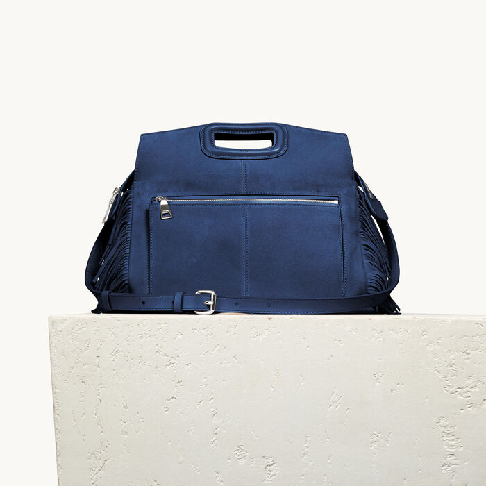 Suede M Walk bag - BLUES - MAJE