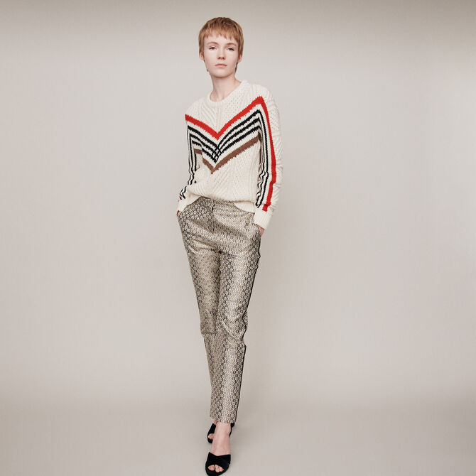 Twisted sweater with graphic motifs -  - MAJE