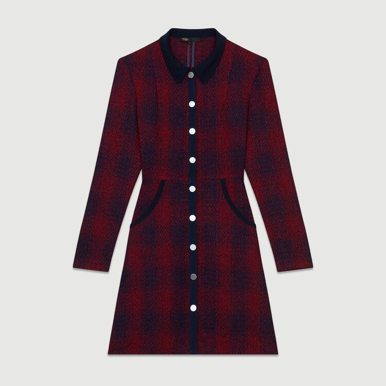 fa2b6cfbbe RENITIA Tweed shirt dress - Dresses - Maje.com