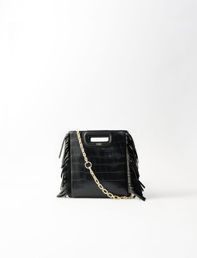Mini embossed-leather M bag -  - MAJE