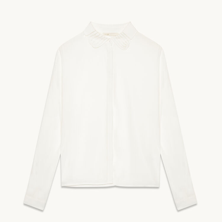 Silk blend shirt : 60% off color WHITE