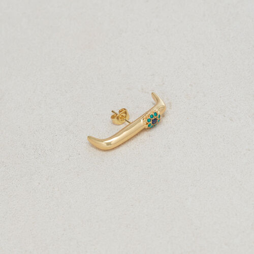"Earring ""Eye"" : Jewelry color GOLD"