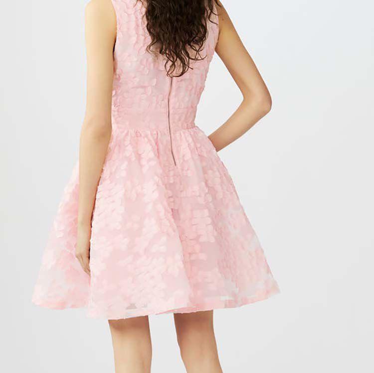 Sleeveless basket-weave knit dress : Dresses color Pink
