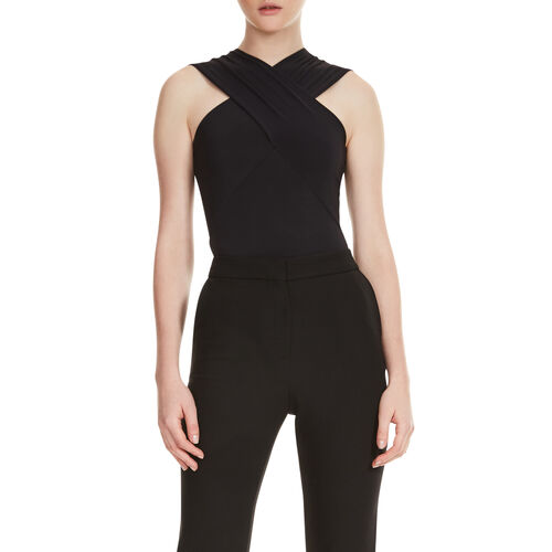 Body with crossover neckline : T-shirts color Black 210