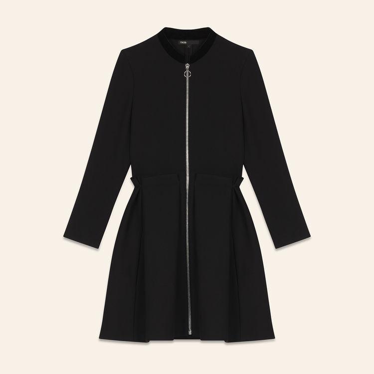 Zipped dress : Ready to wear color Black 210