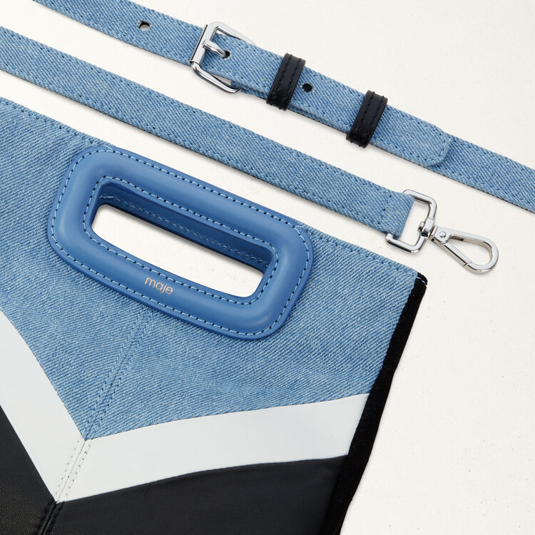 Leather and denim M bag : Summer collection color Multico