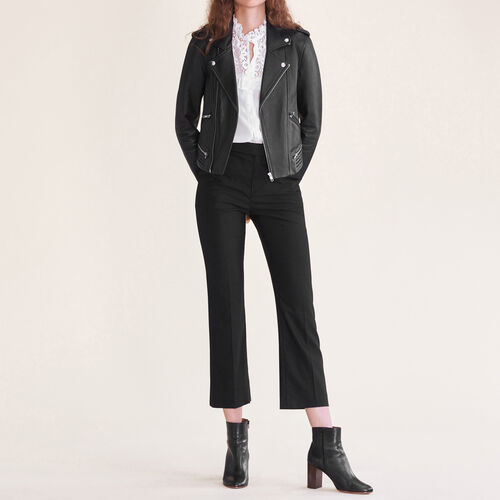 Formal wool trousers : Trousers color Black 210