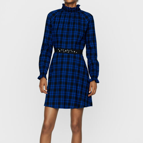 Short plaid dress : New Collection color CARREAUX