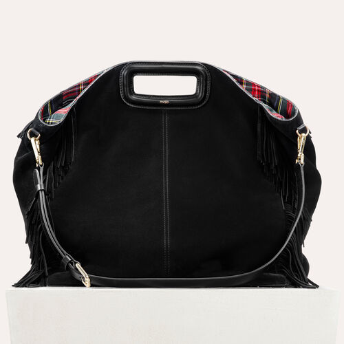 Tote with suede fringe : M Walk color Black 210