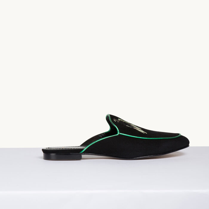 Velvet slipper -  - MAJE
