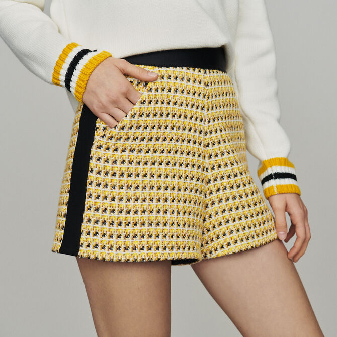 Shorts in tweed and lurex -  - MAJE