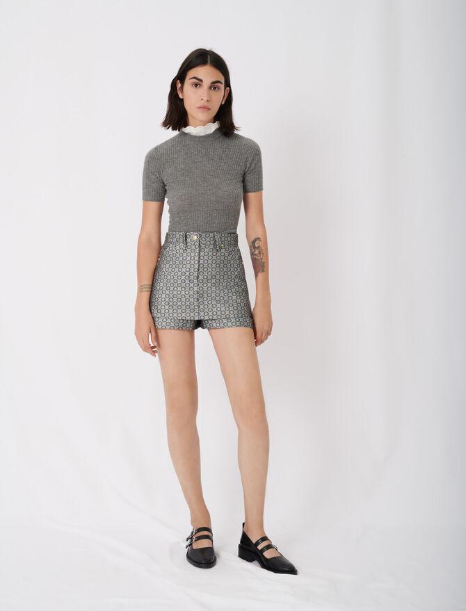 Jacquard trompe-l'œil shorts - New collection - MAJE