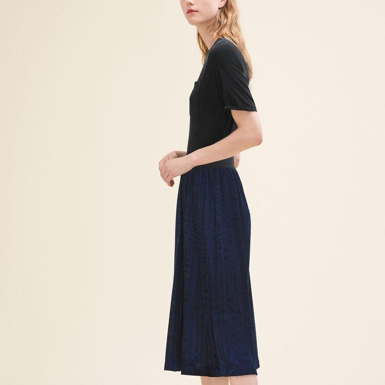 Pleated midi-length skirt : Skirts & Shorts color Night