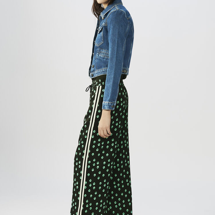 Draped printed pants : Trousers color PRINTED