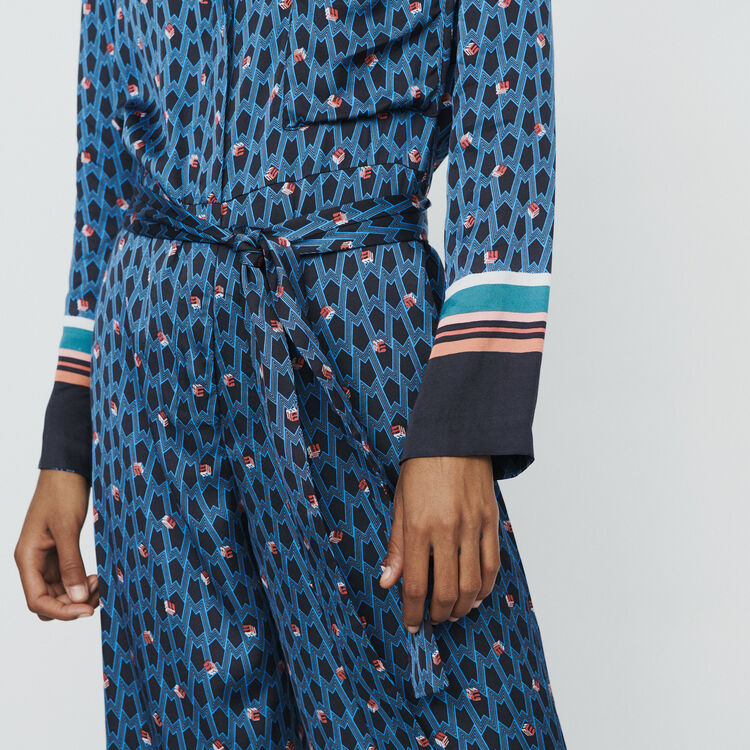 Monogram printed trouser suit : Trousers color PRINTED