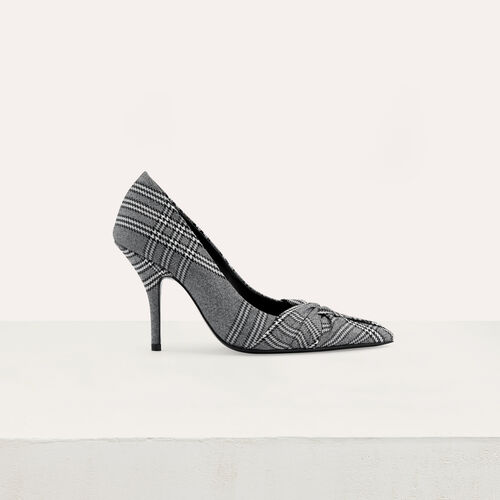Draped pumps in Prince of Wales plaid : New collection color CARREAUX