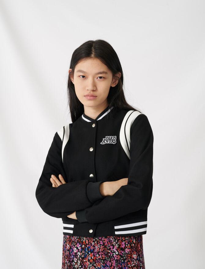 American teddy-style jacket -  - MAJE