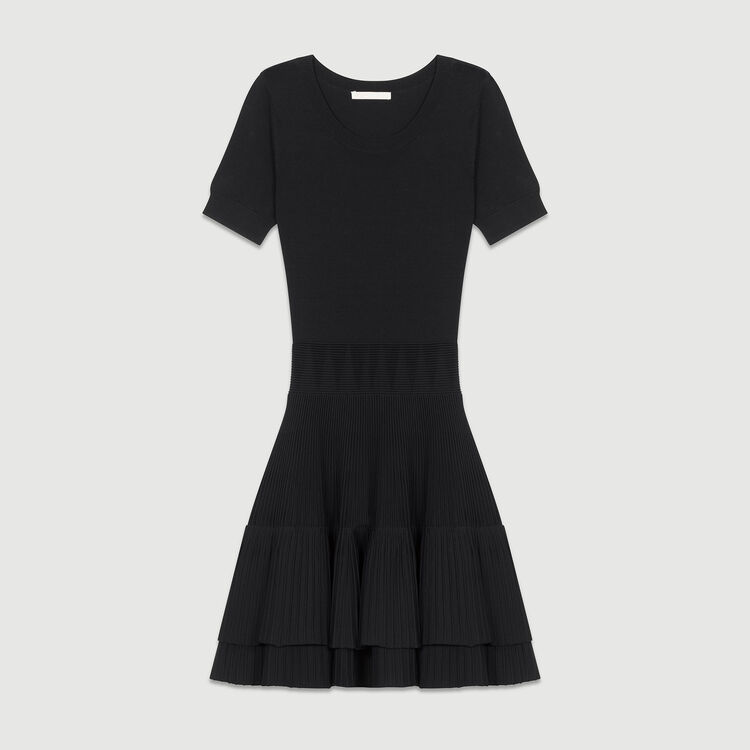 Flounce knit dress : Dresses color Black 210
