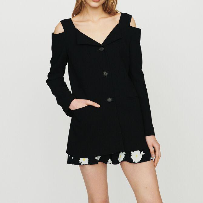 Cold-shoulder jacket -  - MAJE