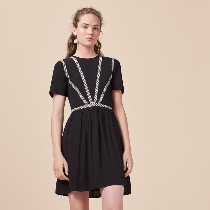 Short crepe dress - -30% - MAJE