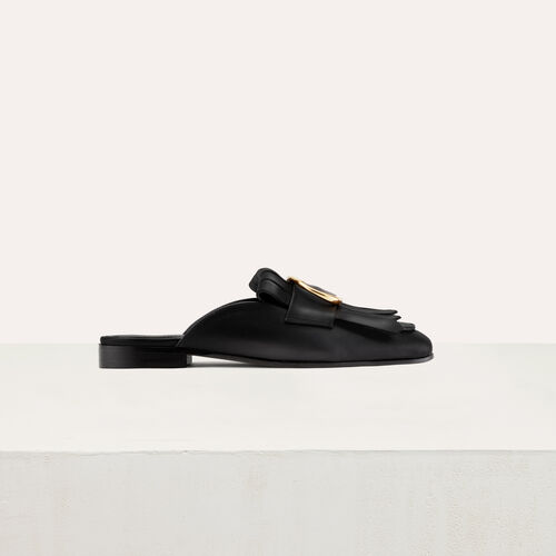 Mocassin slipper with buckle : Shoes color Black 210