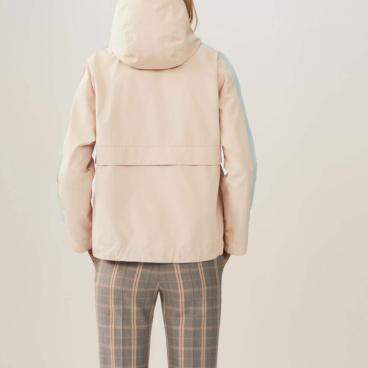 Cropped multicolored parka : Jackets color Beige