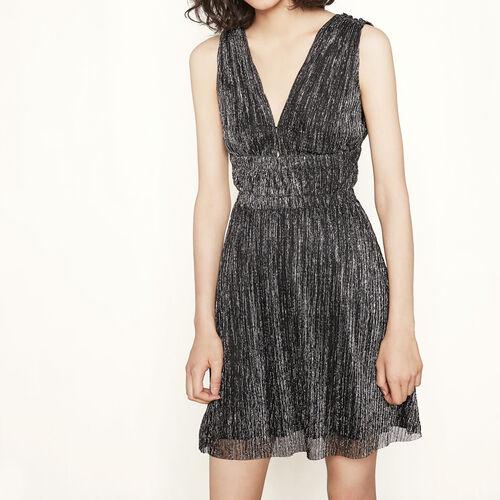 Flowing lurex dress : Dresses color Black 210