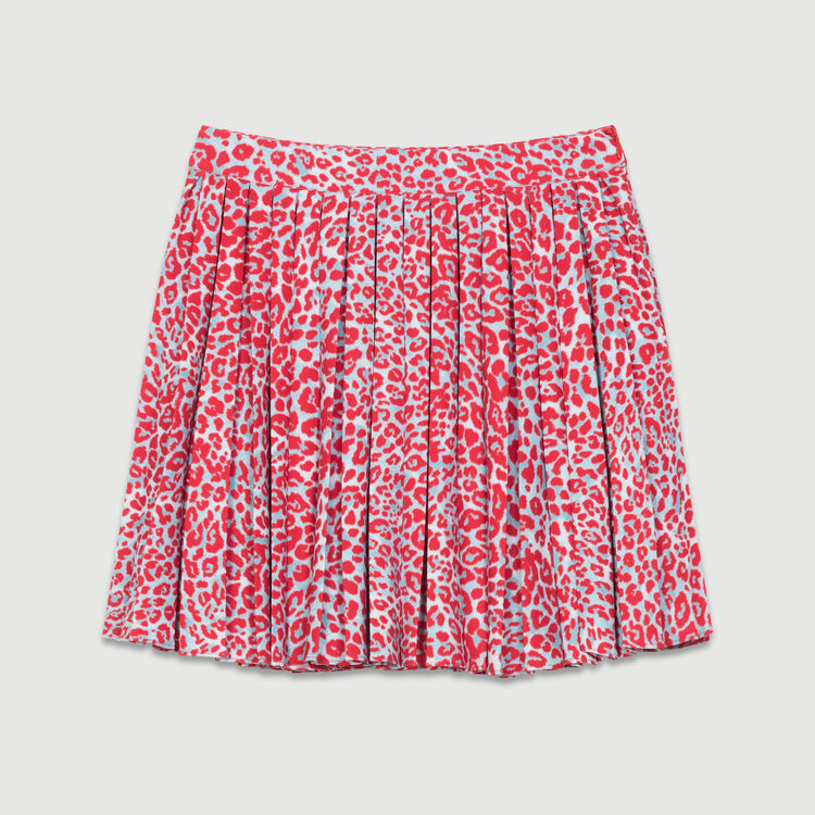Pleated skirt with leopard print : Ready to wear color PRINTED