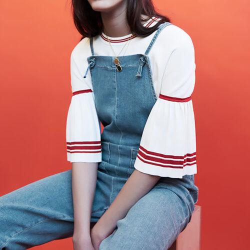 Denim jumpsuit : Jeans color Denim