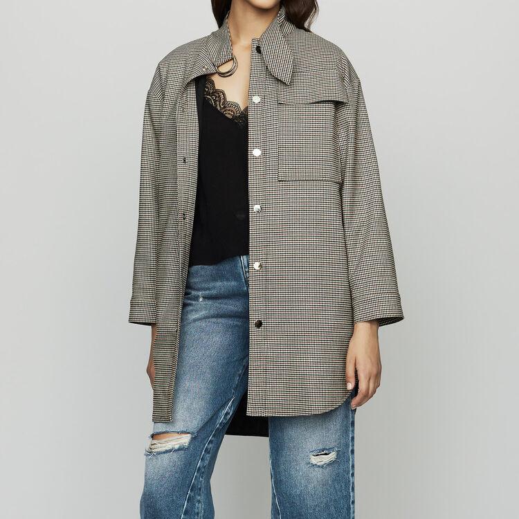 Overcoat in houndstooth : Blazers color CARREAUX