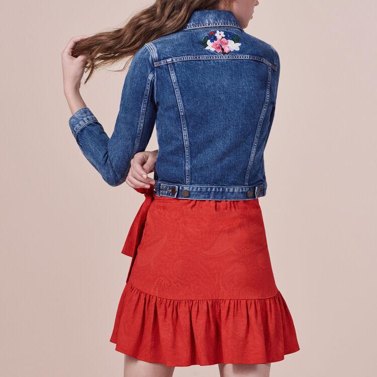 Embroidered denim jacket : Blazers & Jackets color Blue