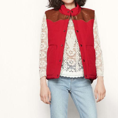 Reversible sleeveless padded jacket : Coats & Jackets color Red
