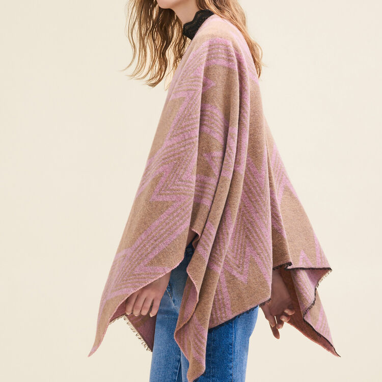Poncho with M print : Accessoires color Pale Pink