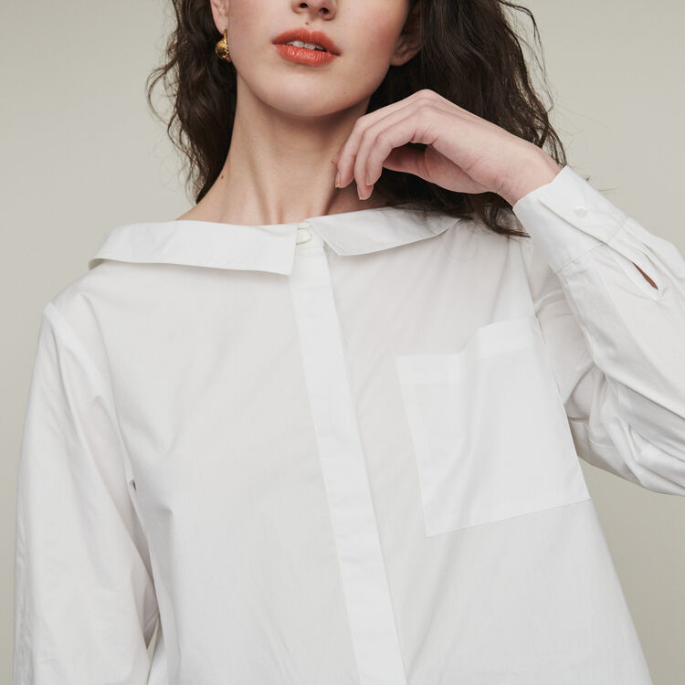 Top with bare shoulders : Tops & Shirts color Ecru