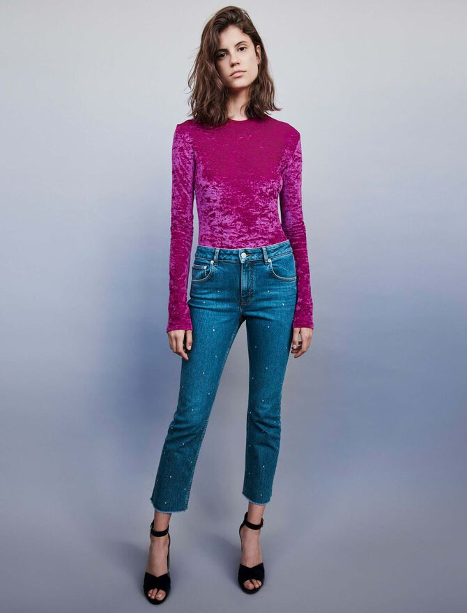 Strass-covered jean - See all - MAJE