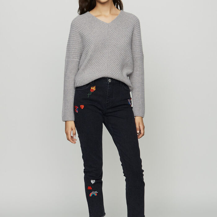 Oversize cashmere sweater : Ready to wear color Grey