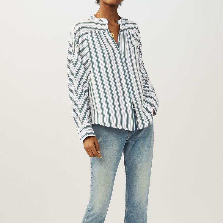 Oversized striped shirt : Shirts color Print